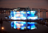 The First Island of 'Floating island' floats in the Han river in Seoul on May 21 2011 The 'Floating island' comprises of three artificial islets near...