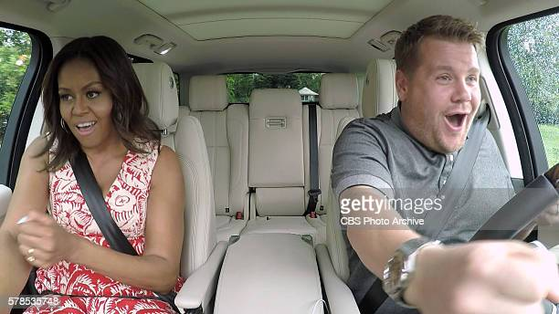 The First Lady Michelle Obama joins James Corden for Carpool Karaoke on 'The Late Late Show with James Corden' Wednesday July 20th 2016 on The CBS...