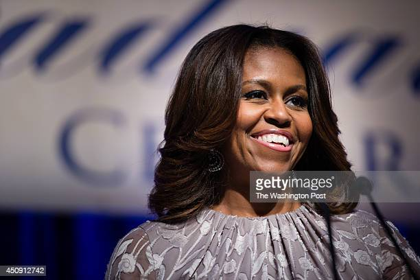 The First Lady Michelle Obama speaks at the DCCAP Class of 2014 Graduation Celebration on Thursday June 19 2014 at the Washington Marriott Wardman...