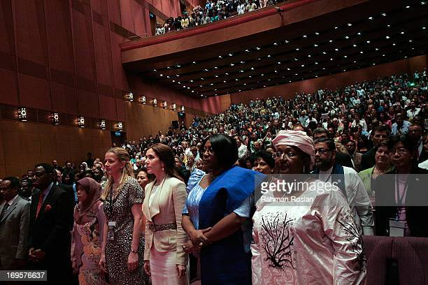 The First Lady of Sierra Leone Alice Sia Nyama Koroma The First Lady of Zambia Christine Kaseba The HRH Crown Princess Mary of Denmark and Princess...