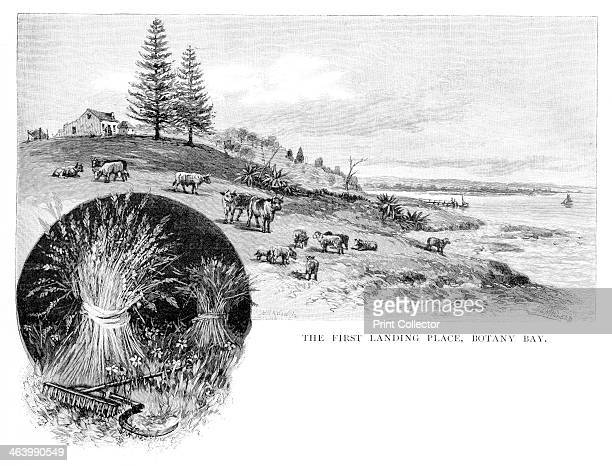 The first landing place Botany Bay New South Wales Australia 1886 Botany Bay is a bay near Sydney It is the place where Captain Cook made his first...
