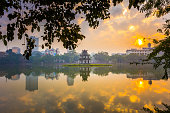 The First Light of the Day at Hoan Kiem Lake Hanoi