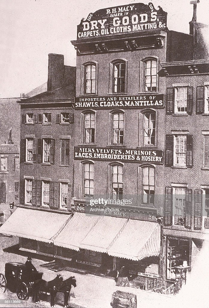 The first Macy's store, on Sixth Avenue 'Ladies Mile' in New York City, circa 1880.