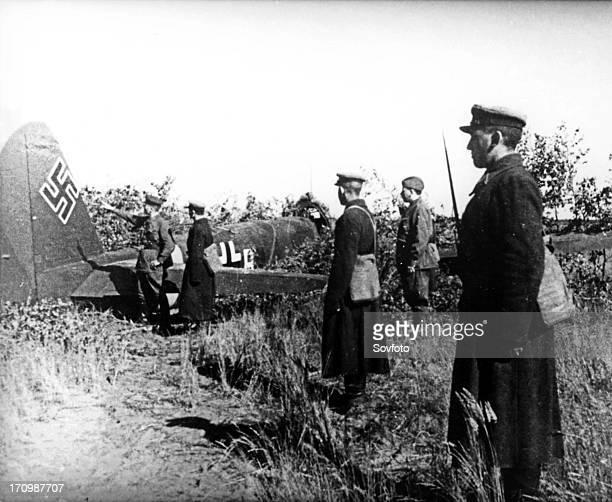 The first nazi aircraft downed near kiev ukraine june 22 1941