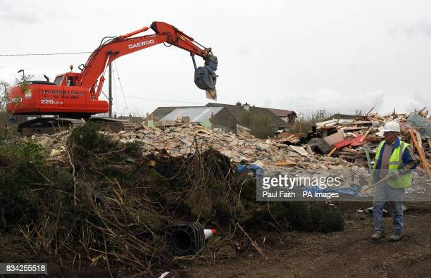 The first of 17 houses are demolished near to City of Derry Airport