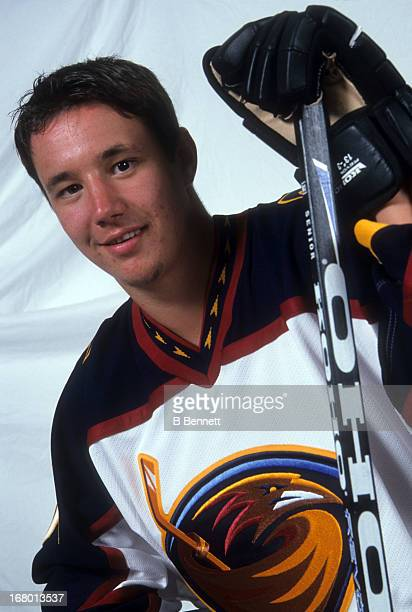 The first overall pick Ilya Kovalchuk of the Atlanta Thrashers poses for a portrait on June 23 2001 in Sunrise Florida