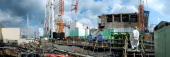 The first reactor second reactor third reactor and fourth reactor of Fukushima Daiichi Nuclear Power Plant are seen on February 20 2013 in Okuma...