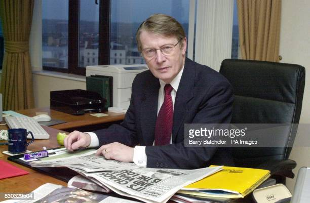 The First Secretary of the Welsh Assembly Alun Michael in his office in Cardiff The Welsh Assembly leader is facing a vote of no confidence all 3...