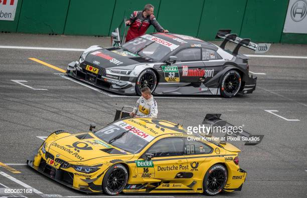 The first start row with Timo Glock of BMW M4 Team RMG in the pool and Rene Rast of Audi Sport Team Rosberg second prior to the DTM Race 2 at the...