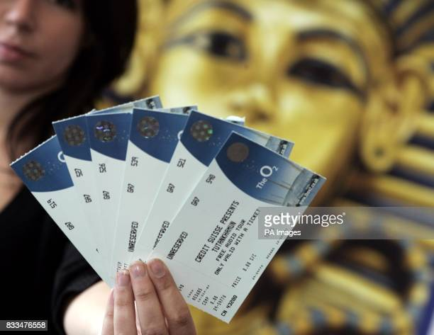 The first tickets to Tutankhamun and the Golden Age of the Pharaohs which went on public sale today