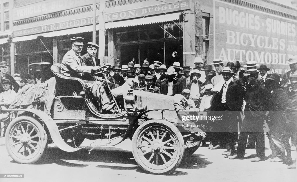 The first transcontinental auto drivers H Nelson Jackson and Sewall K Crocker in Jackson's twocylinder 1903 Winton The pair left San Francisco on May...