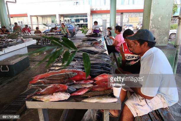 The fish markets are pictured on June 2 2017 in Apia Samoa New Zealand Prime Minister Bill English today announced a US$515 million aid package to...