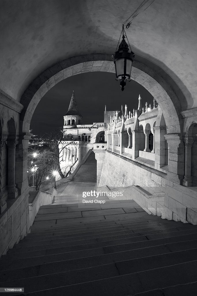 The Fishermans Bastion, built in 1902, Budapest, Hungary : Stock Photo