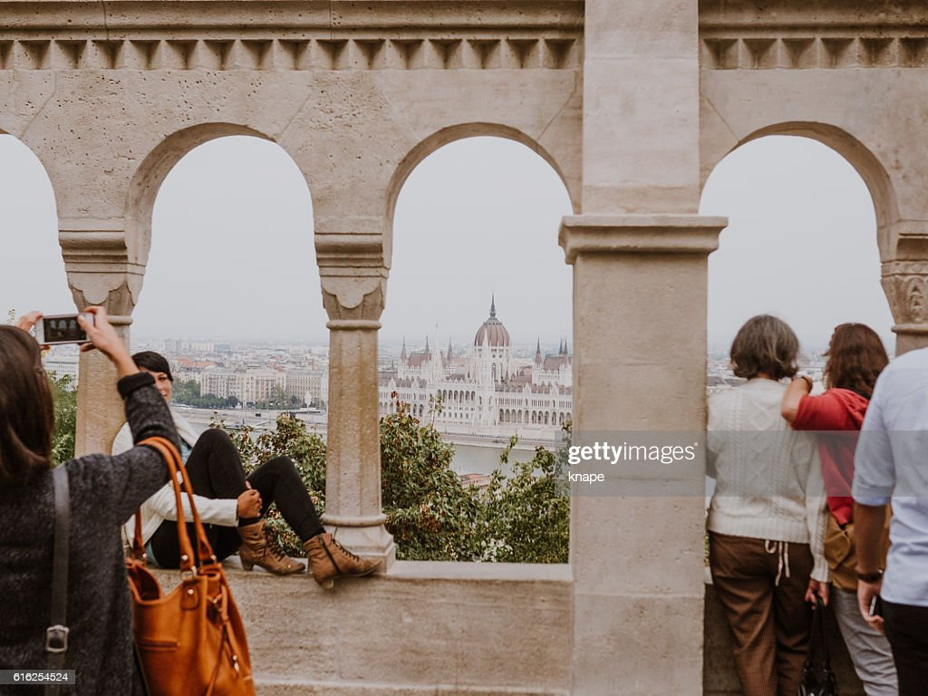 The Fisherman's Bastion in Budapest Hungary : Stock Photo