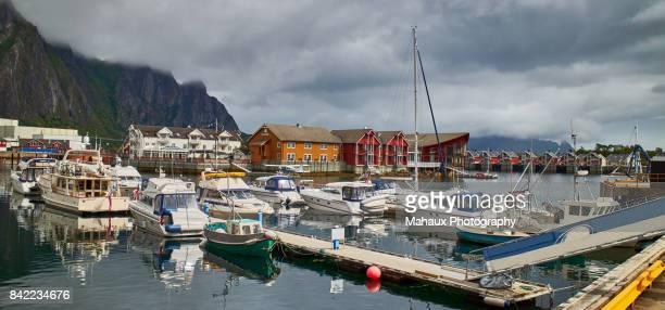 The fishing port of Svolvaer in the Lofoten archipelago