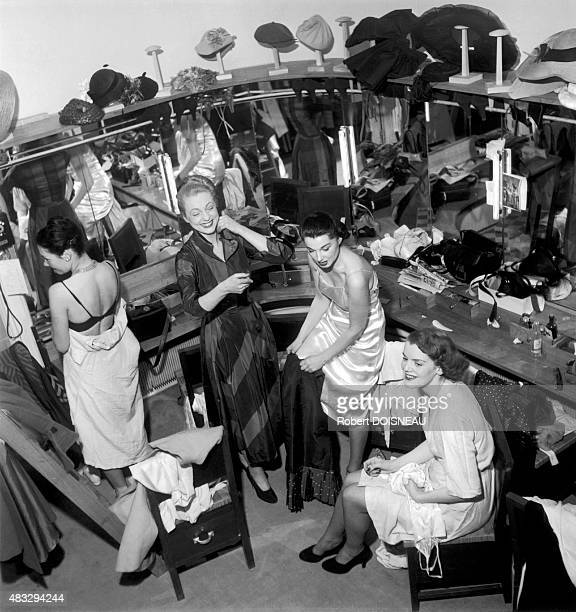 The fitting room of Lucile Manguin 1948 in Paris France