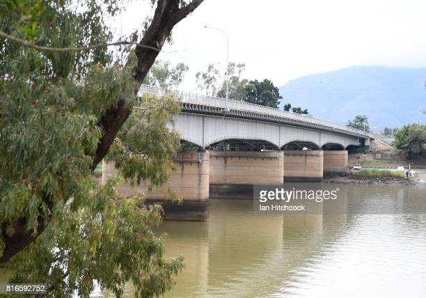 The 'Fitzroy' bridge seen stretching across the Fitzroy river on July 09 2017 in Rockhampton Australia