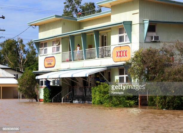 ROCKHAMPTON QLD The Fitzroy Hotel surrounded by floodwaters in Rockhampton Queensland after the Fitzroy River burst its banks in the aftermath of...