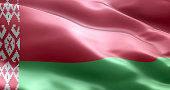 The flag of Belarus