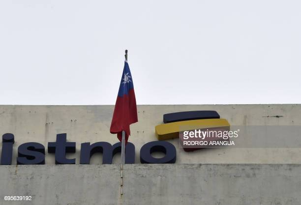 The flag of Taiwan waves atop the Taiwanese embassy to Panama on June 13 2017 in Panama City Panama and China announced June 13 they were...
