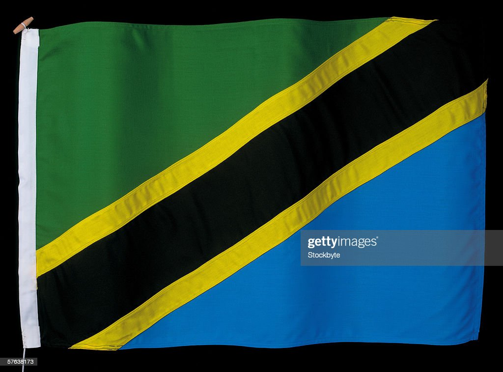 the flag of Tanzania : Stock Photo