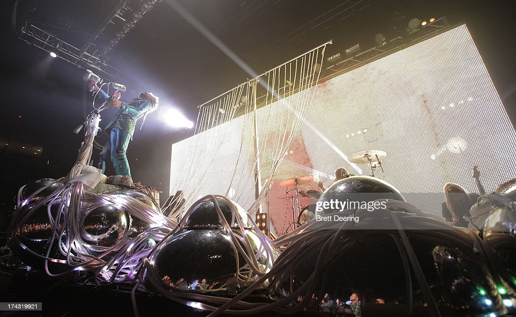 The Flaming Lips perform during the Rock for Oklahoma Benefit at the Chesapeake Energy Arena on July 23, 2013 in Oklahoma City, Oklahoma.