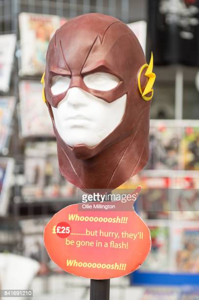 The Flash mask for sale during day 1 of the London Super Comic Con at Business Design Centre on August 25 2017 in London England