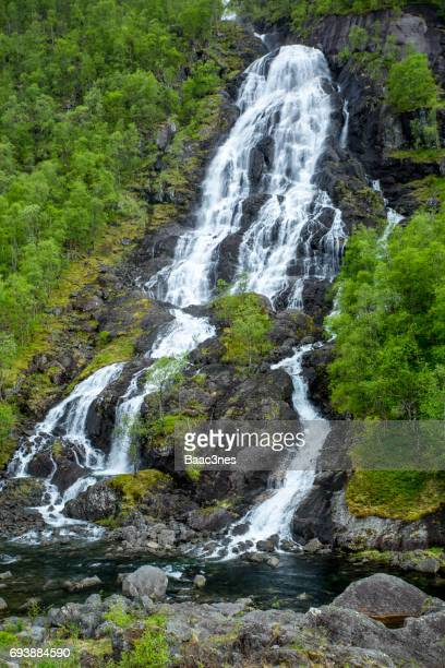 The Flesåna waterfall in Brattlandsdalen, Norway