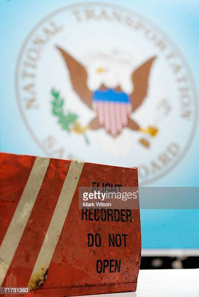 The flight data recorder that was retrieved from Comair Flight 5191 is shown at the National Transportation Safety Board Headquarters August 28 2006...