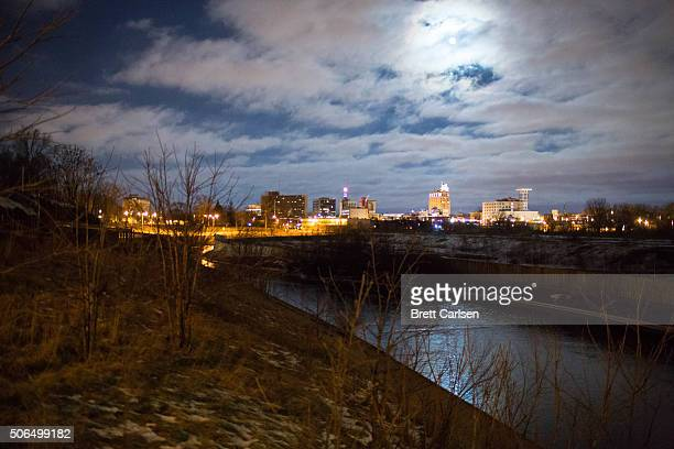 The Flint River backdropped by the city skyline on January 23 2016 in Flint Michigan A federal state of emergency has been declared in Flint due to...