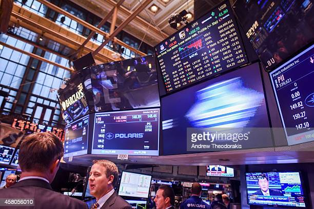 The floor of the New York Stock Exchange at the closing bell October 29 2014 in New York City The Federal Reserve phased out its bond purchasing...