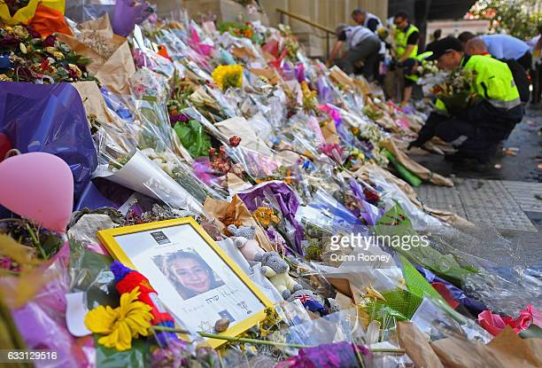 The floral memorial on Bourke Street is removed on January 31 2017 in Melbourne Australia Six people have now died and 37 were injured after a man...