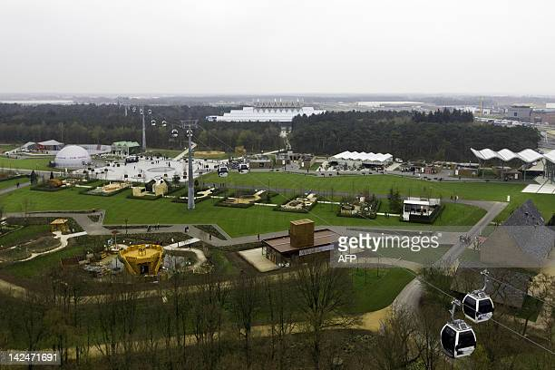 The Floriade 2012 in Venlo is seen from above in this photograph made from an Octocopter on April 5 2012 The Dutch will this week throw open the...