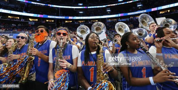 The Florida band plays during action against Virginia in the second round of the NCAA Tournament at the Amway Center in Orlando Fla on Saturday March...