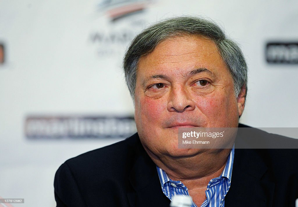 The Florida Marlins owner <a gi-track='captionPersonalityLinkClicked' href=/galleries/search?phrase=Jeffrey+Loria&family=editorial&specificpeople=692109 ng-click='$event.stopPropagation()'>Jeffrey Loria</a> attends a press conference introducing new manager Ozzie Guillen at Sun Life Stadium on September 28, 2011 in Miami Gardens, Florida.
