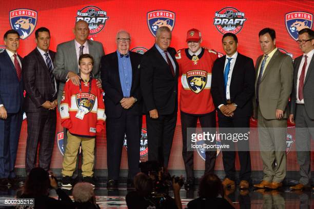 The Florida Panthers select right wing Owen Tippett with the 10th pick in the first round of the 2017 NHL Draft on June 23 at the United Center in...