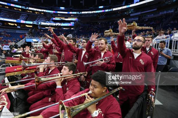 The Florida State band plays during action against Xavier in the second round of the NCAA Tournament at the Amway Center in Orlando Fla on Saturday...