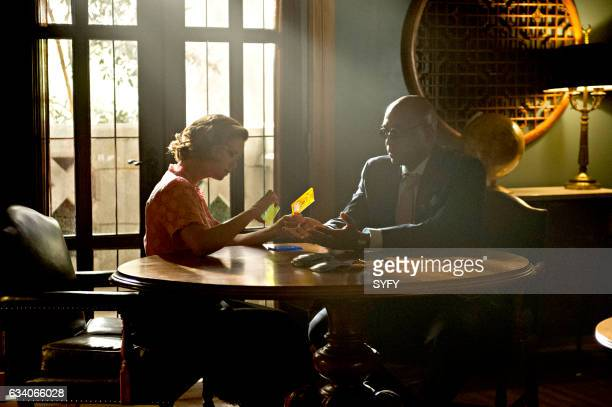 THE MAGICIANS 'The Flying Forest' Episode 204 Pictured Keegan Connor Tracy as Professor Lipson Rick Worthy as Dean Fogg