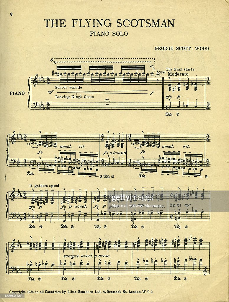 the flying scotsman piano music by george scott wood first page the flying scotsman piano music by george scott wood first page of