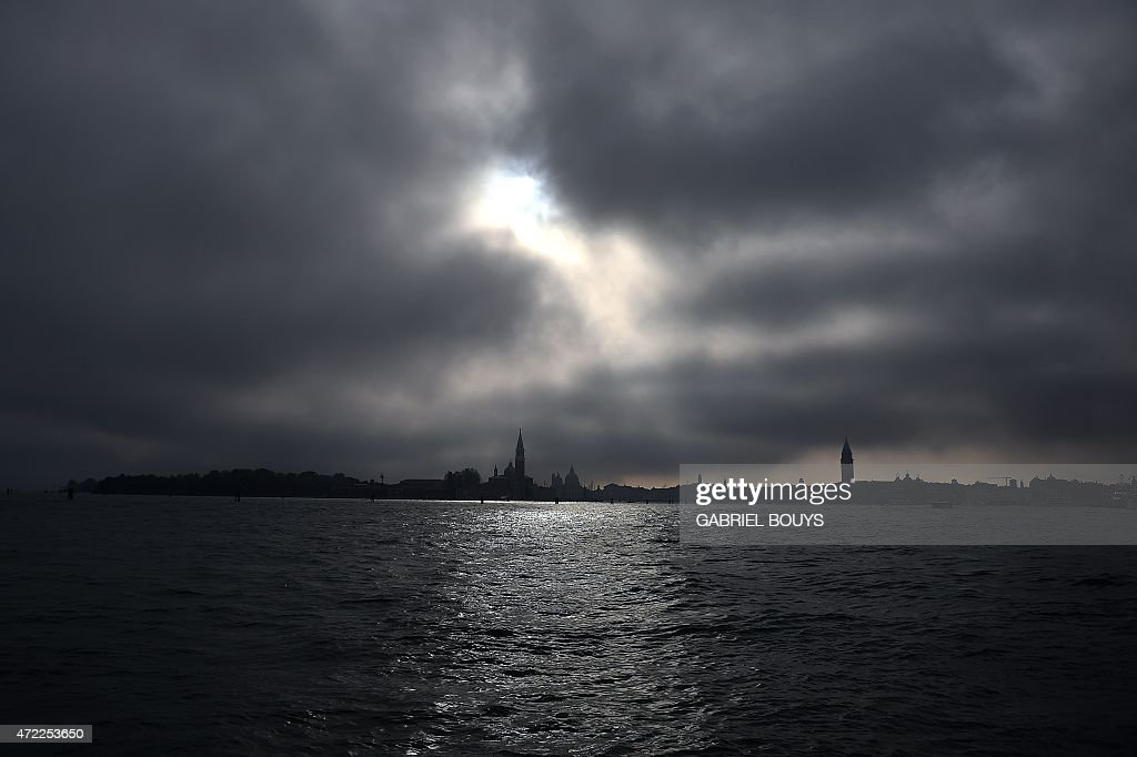 The fog falls on Venice's laguna on May 5 2015 during the press day of the 56th International Art Exhibition titled 'All the Worlds Futures' AFP...