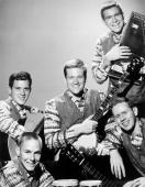 The Folk group The Highwaymen pose for a portrait in 1961