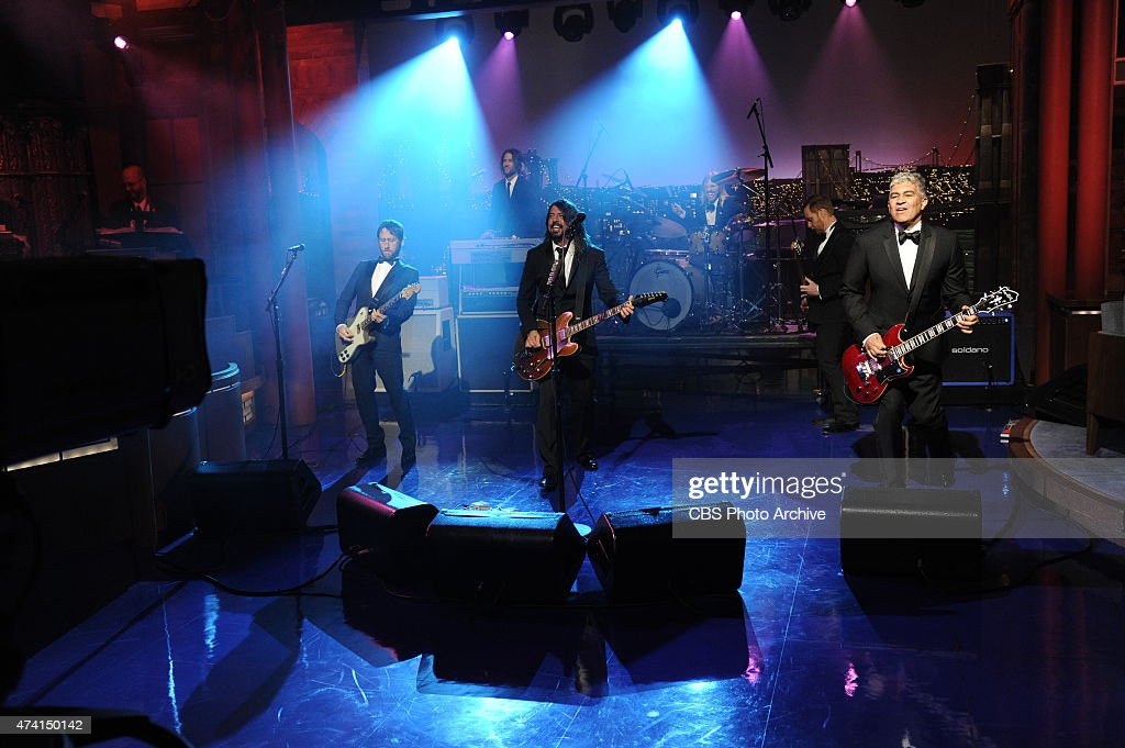 The Foo Fighters perform on the final broadcast of the Late Show with David Letterman, Wednesday May 20, 2015 on the CBS Television Network. After 33 years in late night television, 6,028 broadcasts, nearly 20,000 total guest appearances, 16 Emmy Awards and more than 4,600 career Top Ten Lists, David Letterman says goodbye to late night television audiences. The show was taped Wednesday at the Ed Sullivan Theater in New York.