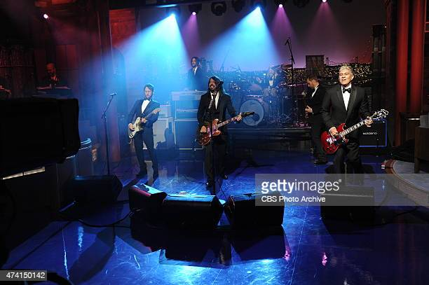 The Foo Fighters perform on the final broadcast of the Late Show with David Letterman Wednesday May 20 2015 on the CBS Television Network After 33...