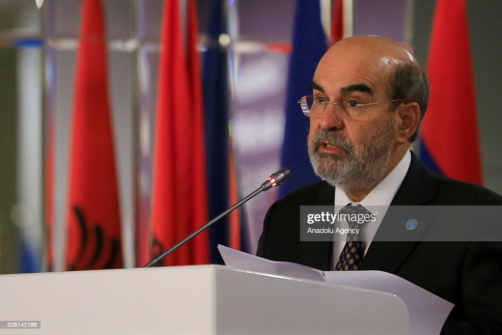 The Food and Agriculture Organization of the United Nations General director Jose Graziano da Silva attends the 30th session of the FAO Regional Conference for Europe (ERC) in Antalya, Turkey on May 4, 2016.