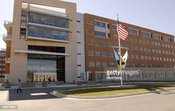 The Food and Drug Administration headquarters stand in Silver Spring Maryland US on Monday March 17 2008 The facility houses the Center for Devices...