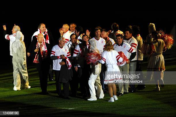 The football club of AS Nancy Lorraine celebtrate their 40 years In Nancy France On November 03 2007 The 40 years ceremony of the club Here is Michel...