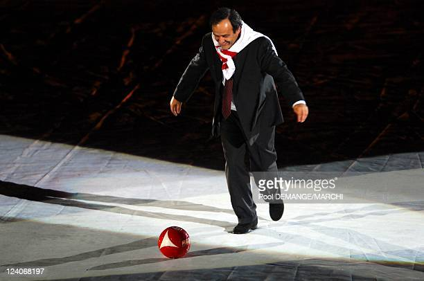 The football club of AS Nancy Lorraine celebtrate their 40 years In Nancy France On November 03 2007 Michel Platini UEFA's president