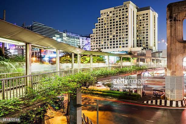 The footbridge near Siam Square