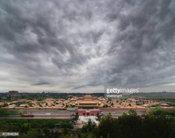 The Forbidden City in cloudy day