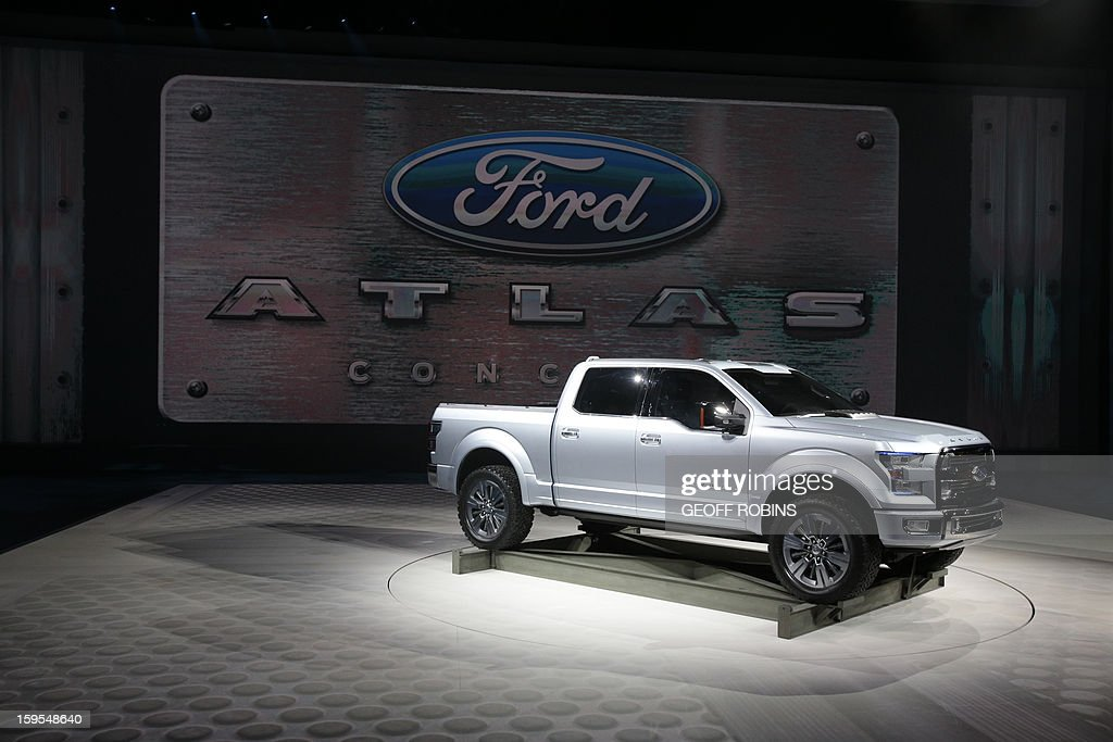 The Ford Atlas concept truck is introduced at the 2013 North American International Auto Show in Detroit, Michigan, on January 15, 2013. AFP PHOTO/Geoff Robins